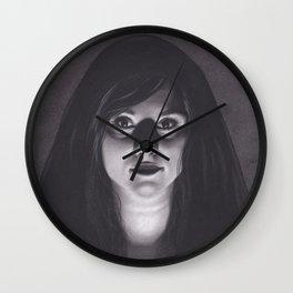 Realism Drawing of Dark Veiled Gypsy Woman Wall Clock