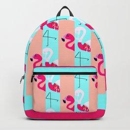 Flamingo Stripe Backpack