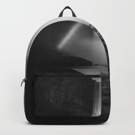Waterfall Paradise (Black and White) Backpack