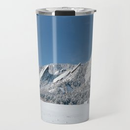 Snowy Flatirons Travel Mug