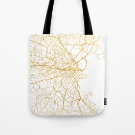 BOSTON MASSACHUSETTS CITY STREET MAP ART Tote Bag