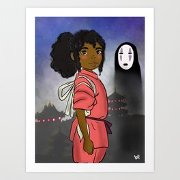 AFro Chihiro Art Print
