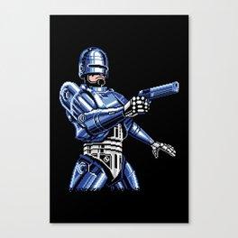 Robocop Pixel Art Canvas Print