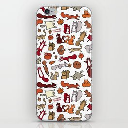 Squirrels in Fall Doodle iPhone Skin