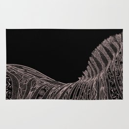 Gorgeous Abstract Zebra Flowers Design Rug