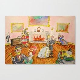 Seven Sins and a Footman Canvas Print