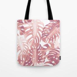 Rose gold tropical plant Tote Bag