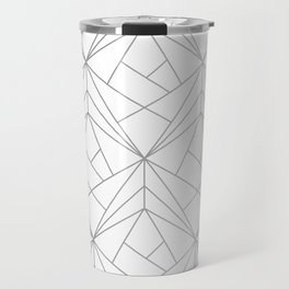 Geometric Silver Pattern Travel Mug