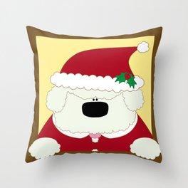 Doggy Santa Throw Pillow