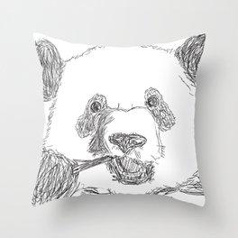 Panda's Meal Throw Pillow