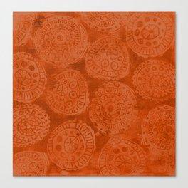 Tribal Terracota Rounds Canvas Print