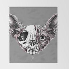Shynx Half Skull Throw Blanket