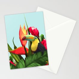 Toucan Tropical Banana Leaves Bouquet Stationery Cards