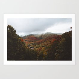 Fall over the White Mountain National Forest Art Print