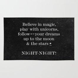 Night - Night! - Black Rug