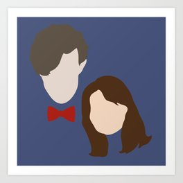 The Eleventh Doctor and the lovely Clara Oswin Oswald Art Print