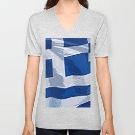 Greece Fancy Flag Unisex V-Neck