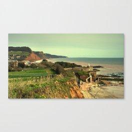 Sidmouth Seascape Canvas Print