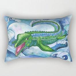 Mervyn the Marvelous Mosasaurus Rectangular Pillow