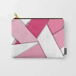 Flat Abstract Modern Design Vector Pattern breast cancer awareness  Carry-All Pouch