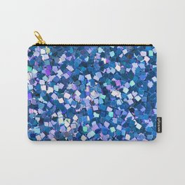 Dazzling Blue Sequences (Color) Carry-All Pouch