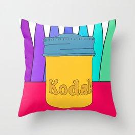 vintage kodak film canister Throw Pillow