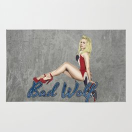 Blonde in a Union Jack...A specific one Rug
