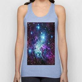 Fox Fur Nebula : Purple Teal Galaxy Unisex Tank Top