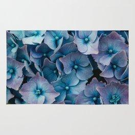 Blue Summer Hydrangeas Rug