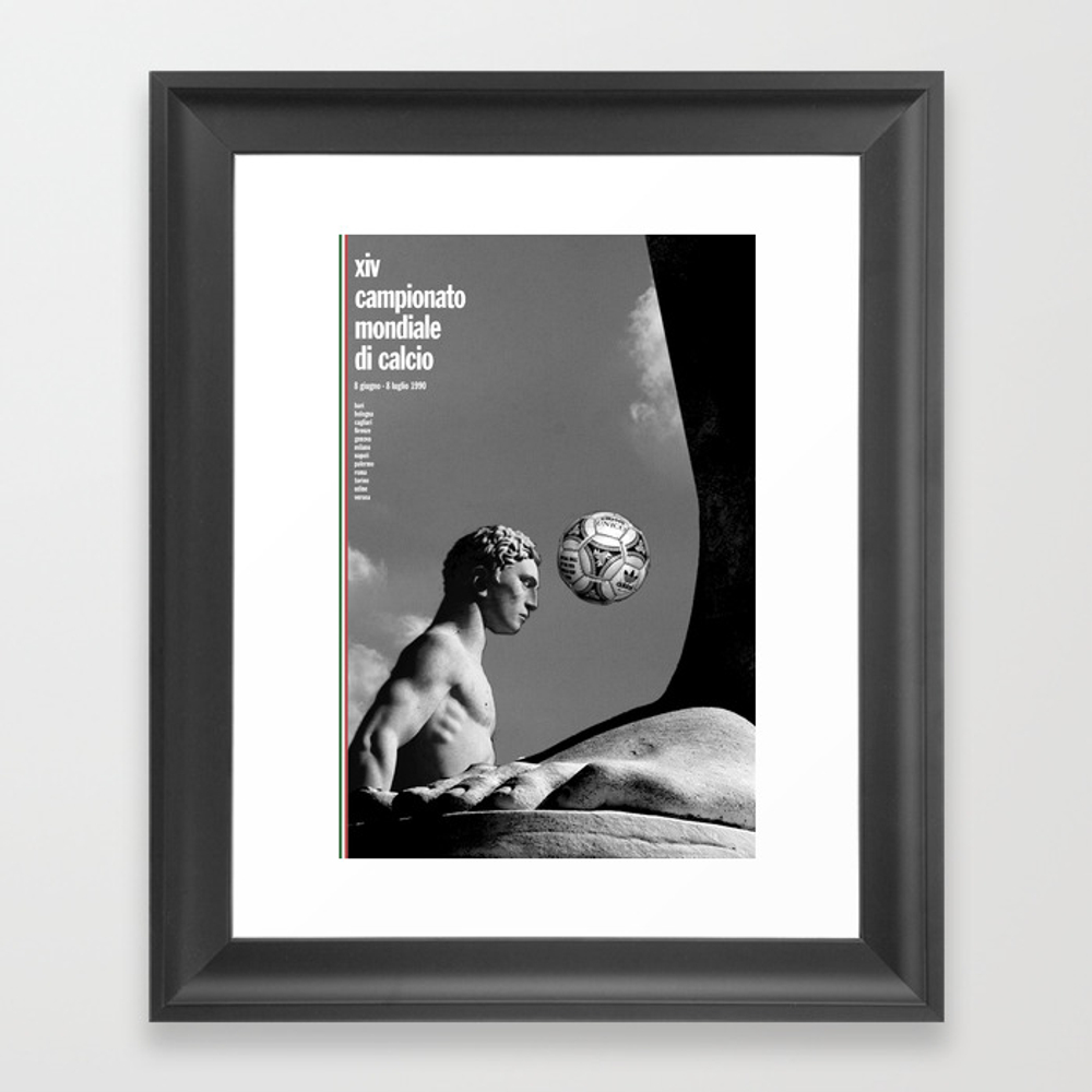 World Cup: Italy 1990 Framed Art Print by Jamescampbelltaylor FRM2103643
