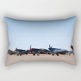 WW2 Warbirds Line-up, Sonoma County Airport, California Rectangular Pillow