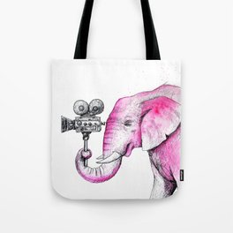 Filming Pink Elephant Tote Bag