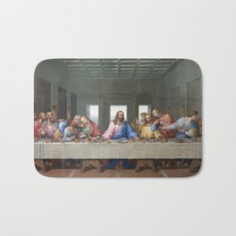 The Last Supper by Leonardo da Vinci Bath Mat