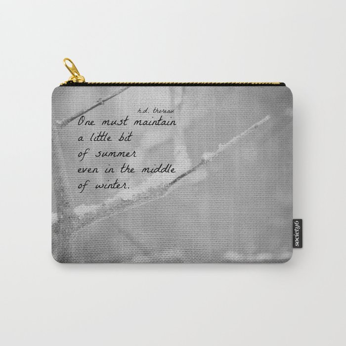 Winter Quote Thoreau Carry-All Pouch
