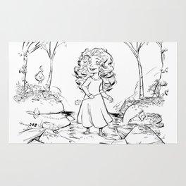 Merida princess (Brave) Rug