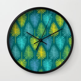 Retro Spring Nature Print II Wall Clock