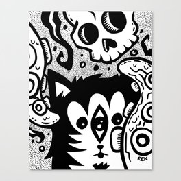 The Nether Cat Canvas Print