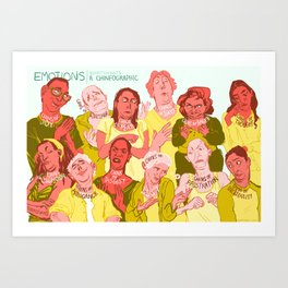 Chinfographic Art Print