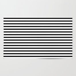 Stripped horizontal black and white pattern Rug