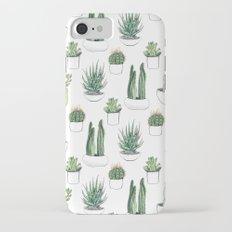watercolour cacti and succulent iPhone 7 Slim Case