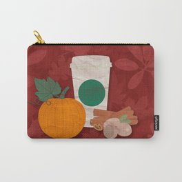 Pumpkin Spice Latte Coffee Carry-All Pouch