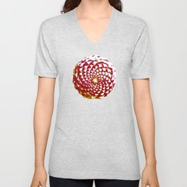 pine cone in olive green, purple and burgandy Unisex V-Neck