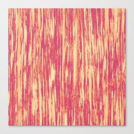 Ikat Streaks in Coral Canvas Print