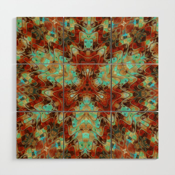 Scifi Rustic Geometric Wood Wall Art