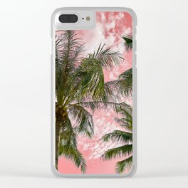 Pink paradise Clear iPhone Case