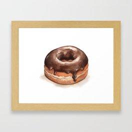 Chocolate Glazed Donut Framed Art Print
