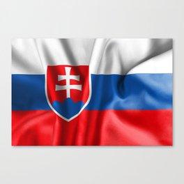 Slovakia Flag Canvas Print