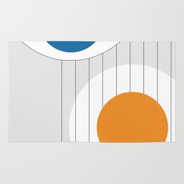 Geometric shapes eye icon Rug