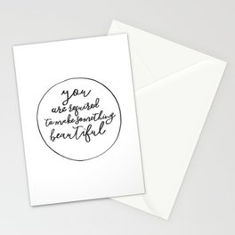 You Are Required to Make Something Beautiful Stationery Cards