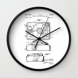 Turntable Patent Wall Clock